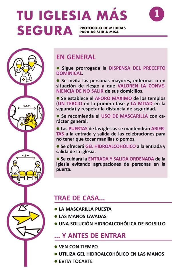 Recomendaciones de la diócesis de Palencia